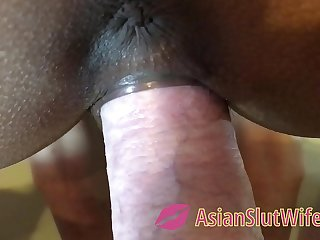 Super Slow Motion Pulling Dick Out of doors Be incumbent on Tight Asian Pussy