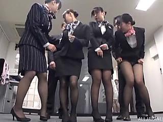 Upper crust of japanese schoolgirls are willing of some sloppy 10Pounder engulfing