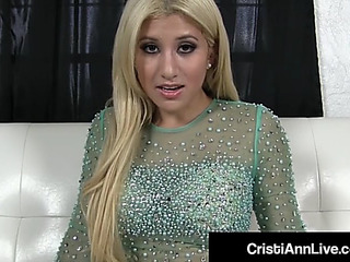 Hawt latin girl cristi ann gives u hawt cum chafing instructions!