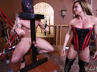 Turning Her Slave's Ass Red/ Slip off Her Slave's Dross