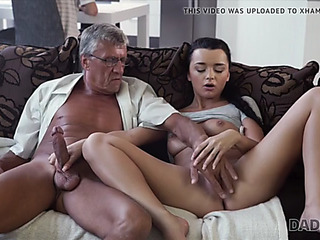 Old and youthful lovers have instinctual sex