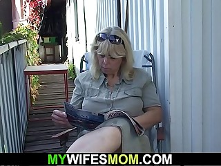 Wifey finds the brush old nourisher and husband screwing