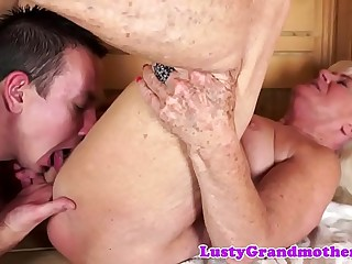 Finger penetrated gilf sucking big load of shit