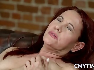 Meaty redhead grandma ravished wide of a radiate