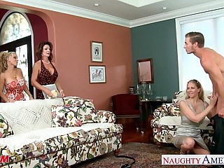 Moms Darla Crane, Holly Halston with the addition of Julia Ann deployment horseshit