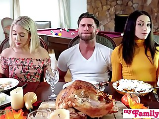 """Who's Hotter"" - Competing Be proper of His Thanksgiving Creampie S10:E6"