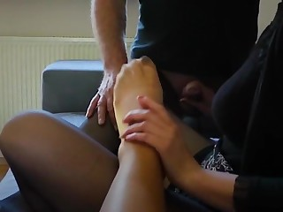 Nylon family at one's fingertips footfetish divertissement