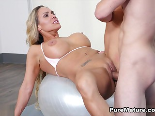 Tegan James in Upbringing Working-out - PureMature