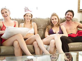 Kristen Scott Reagan Foxx Mona Wales Lena Paul Tommy Gunn in BTS - Family Fare well - SweetSinner