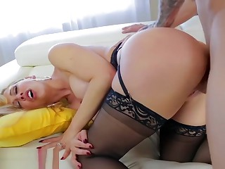 Cherie DeVille gets anal fucked by will not hear of step-son