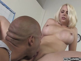 Little one watching honcho progenitrix Mandy Sweet taking a BBC