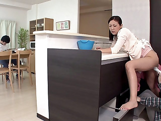 Milf Gets Pleasured To the fullest extent a finally Her Son Is Grooming - MilfsInJapan
