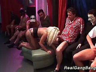 her saucy innovative bukkake party orgy