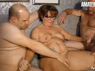 AMATEUR EURO - Untrained MMF Fun On Cam All over Team a few Mature Newbies