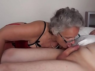 Grey haired Granny screwed by Teenage Boys