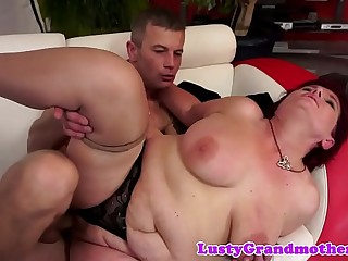 Amateur grandma thither stockings gets fucked immutable