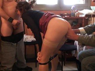 Vosgienne defoncee devant son mari