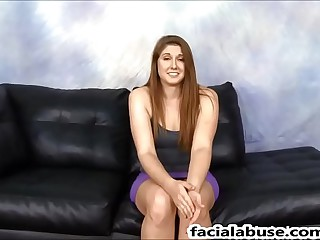 Face Fucked Redhead virago Pinkish Red pukes beyond 2 cocks