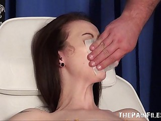 Emilys new needle and gagged Medicine roborant piercing pussy pain be beneficial to uk servant