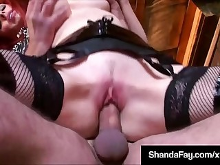 Canadian Cougar Shanda Fay Mounts Cock Relating to Old Uncanny Barn!