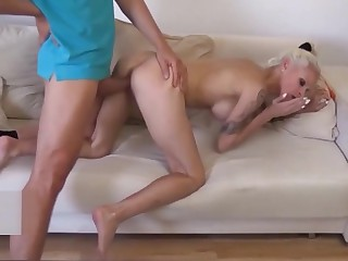 norwegian StepMom Caught starkers regarding Nautical galley and Coax anent Fuck wits Son