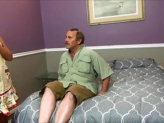 Horny Stepmom Fucks Horrific Dad Coupled with Son In front S