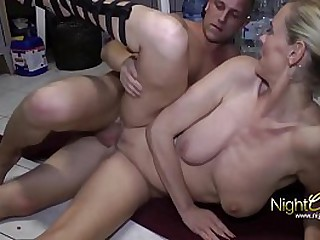 German Cougar shot at Sex with the brush Sons very trample depart friend