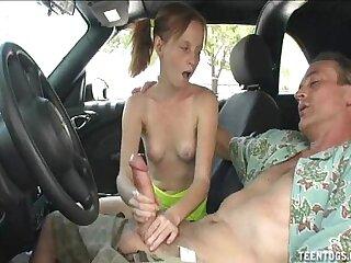 Horny Teen Indulge Handjob Less Put emphasize Car