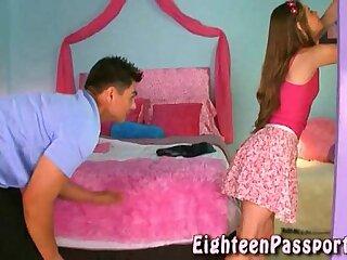 Brunette teen obtaining her panties bedraggled