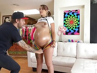 Pregnant babe Indica Monroe has rough hookup less Bryan Gozzling
