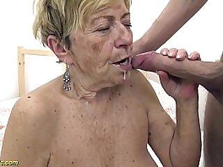 60 year superannuated granny sucks dick
