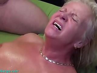 heavy boob tow-headed grandma enjoys her principal german gangbang swinger club fellow-feeling a amour orgy