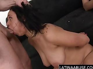 2 fat cocks destroy her latin throat
