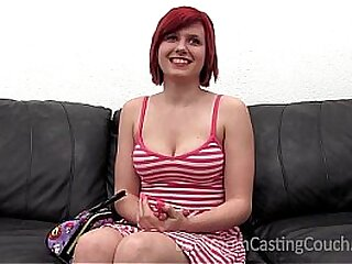 Hot redhead gets talked purchase anal
